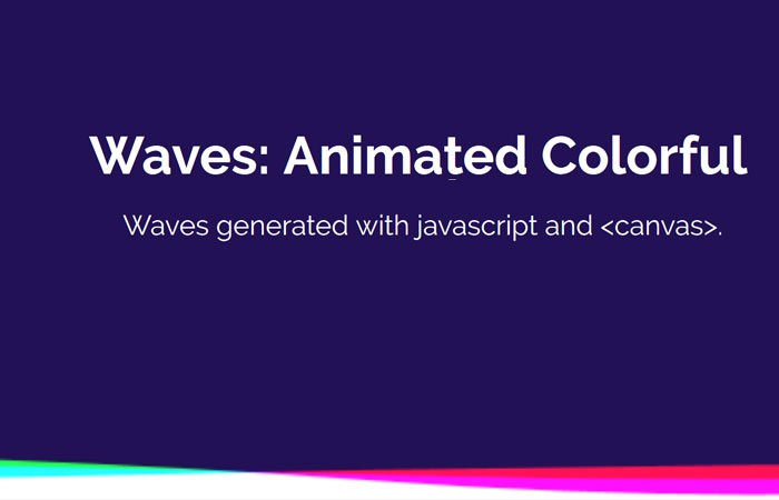 Colorful Animated Wavy Header