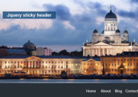 Jquery sticky header after scroll