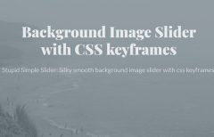 keyframes Background Slider