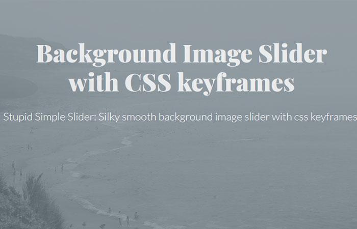 keyframes Background Slider
