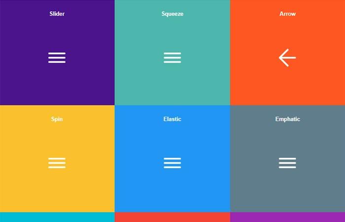 cool hamburger menu animations in Pure CSS