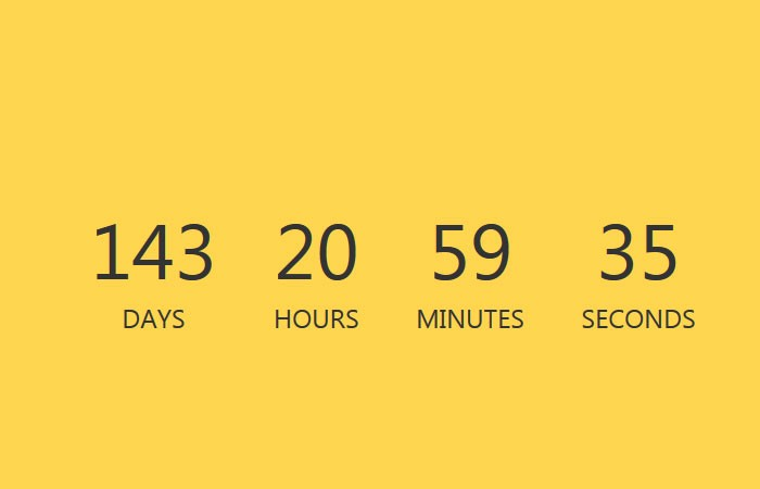 Javascript simple countdown timer