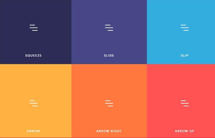 Hamburger Menu Animations with CSS3