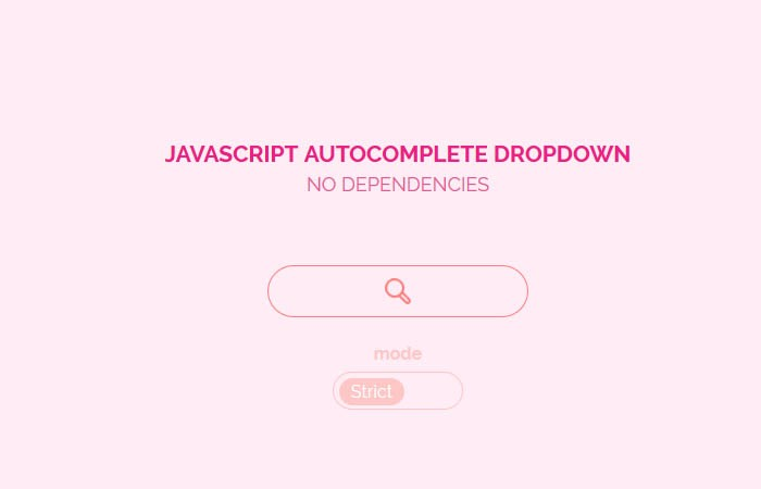 Javascript Autocomplete dropdown