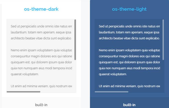 Overlay Scrollbars: Javascript Custom Scrollbar Plugin