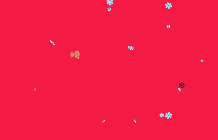 Pure CSS Snow Falling Effect