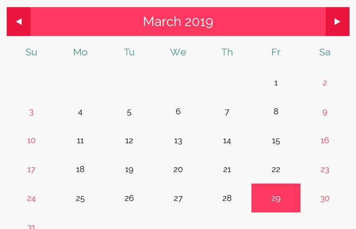 Dynamic Calendar in Javascript