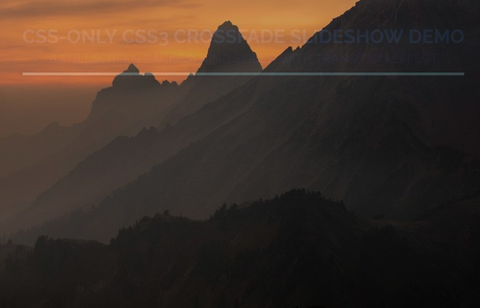 CSS Background Image Slideshow Fade