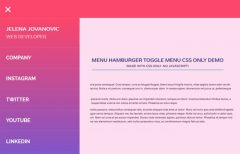 Menu Hamburger Toggle Menu CSS Only