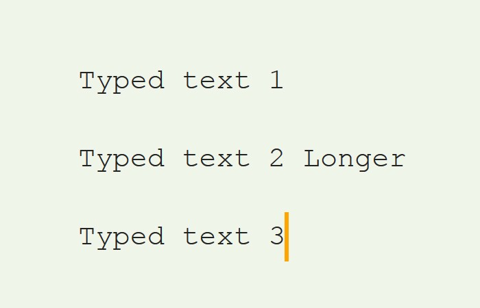 CSS Typing Animation Multiple Lines Typewriter Effect