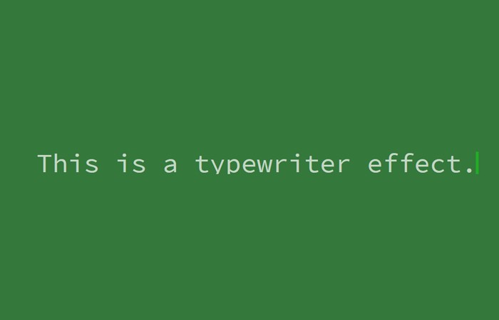 Pure CSS Typing Text Animation with Blinking Cursor