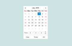 jQuery Datepicker with Timepicker Plugin