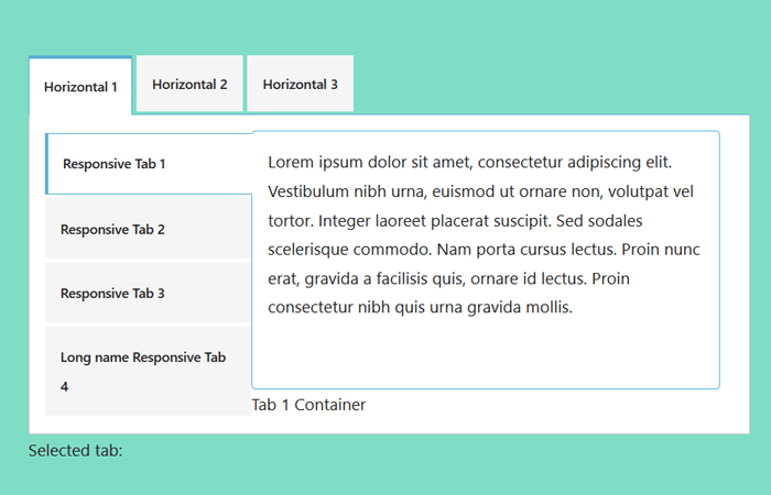 jQuery Responsive Vertical Tabs to Accordion