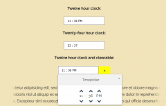 jQuery TimePicker 24 Hour Format