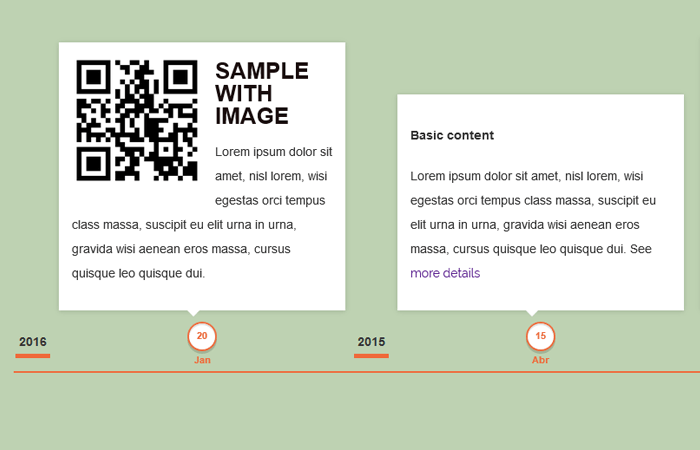 Responsive Horizontal Timeline with jQuery