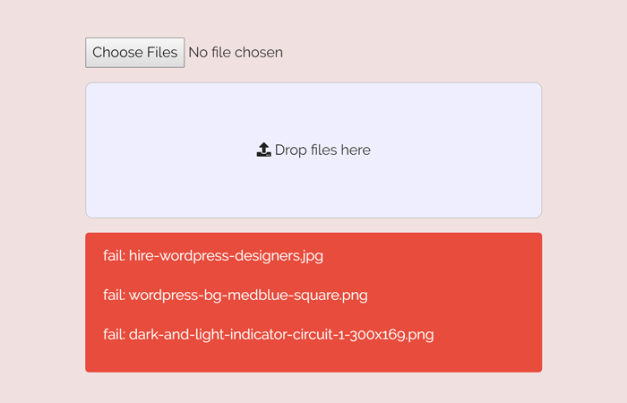 HTML5 Drag and Drop File Upload using jQuery