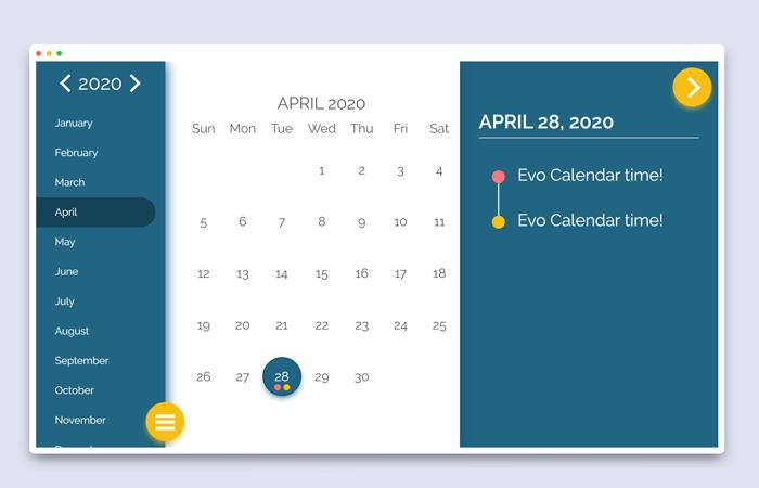 Responsive Event Calendar jQuery Plugin