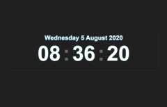 Simple Digital Clock in jQuery and CSS