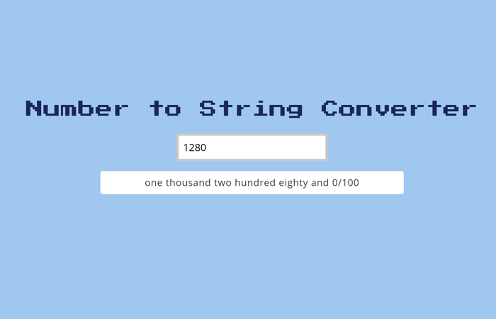 Convert Number to String in JavaScript