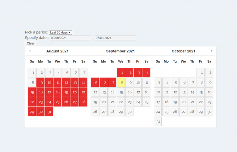 jQuery Datepicker with Range Selection