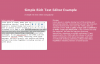 Simple Rich Text Editor using jQuery